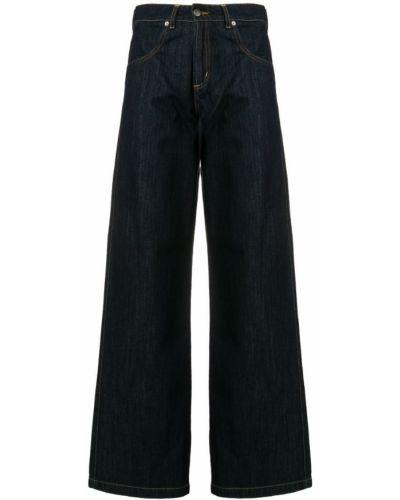 Широкие джинсы синие на пуговицах SociÉtÉ Anonyme