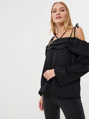 Блузка с открытыми плечами черная Lost Ink.
