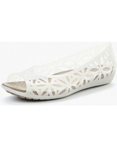 Белые балетки Crocs