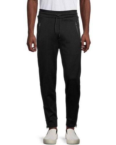 Czarne spodnie bawełniane Hugo Hugo Boss