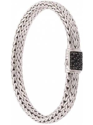 Классический серебряный браслет c сапфиром John Hardy