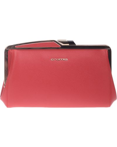 Кожаный клатч - красный Cromia