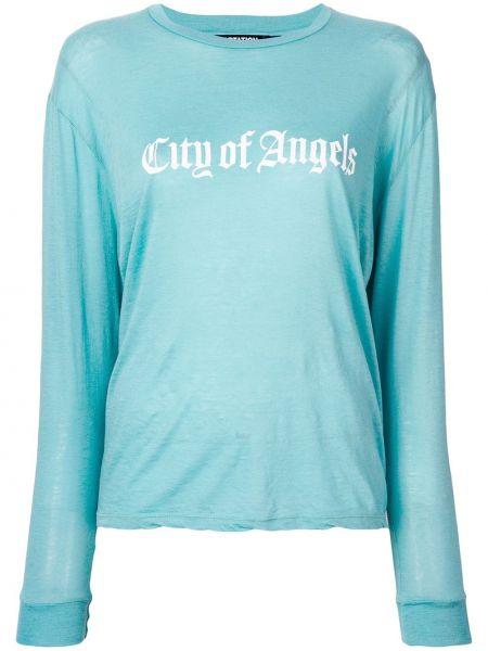 Niebieski z kaszmiru sweter z długimi rękawami Adaptation