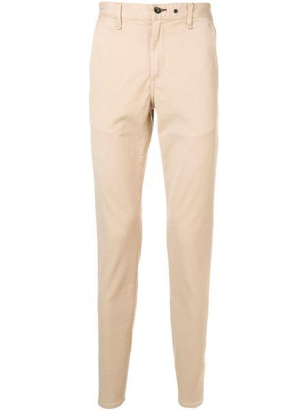 Beżowy bawełna klasyczny klasyczne spodnie z paskiem Rag & Bone