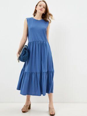 Прямое синее платье А-силуэта Incity