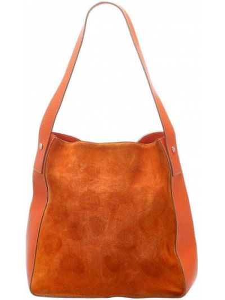Кожаная оранжевая сумка на плечо Burberry Pre-owned