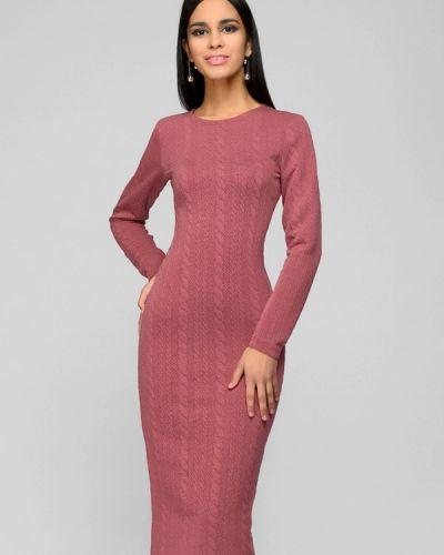 Платье розовое вязаное 1001dress