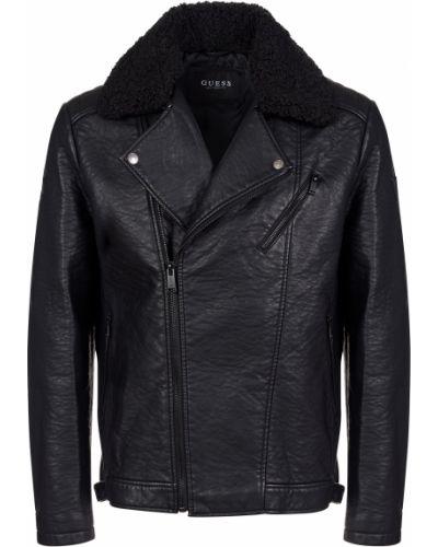 Куртка из полиуретана - черная Guess