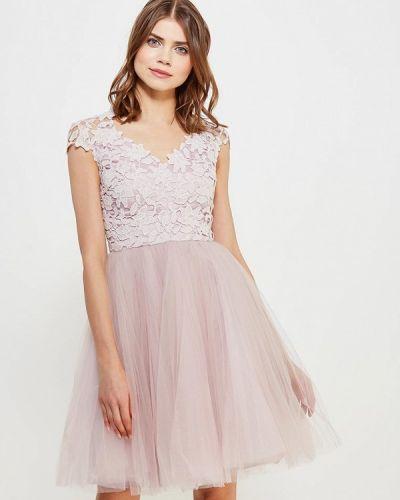 Бежевое платье Chi Chi London