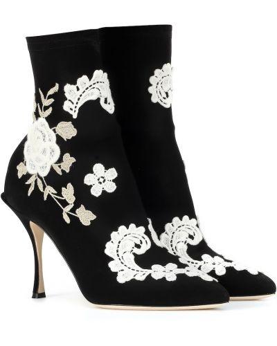 Сапоги на шпильке сапоги-чулки черные Dolce & Gabbana