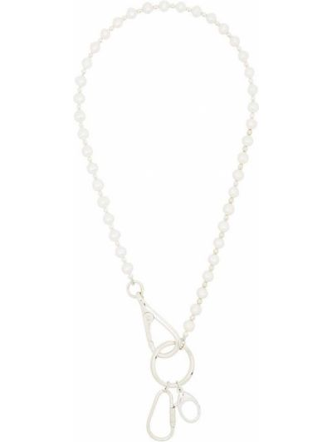 Серебряное ожерелье с жемчугом на крючках Hatton Labs