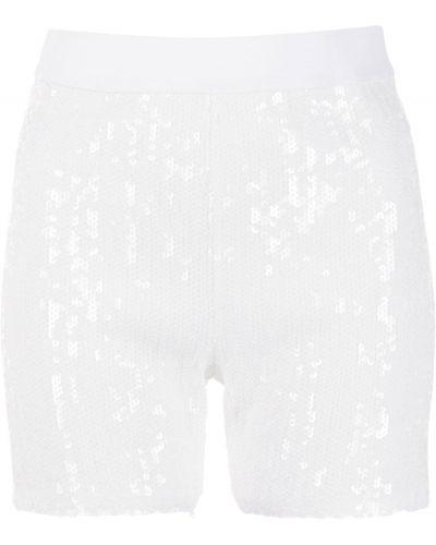 Белые с завышенной талией шорты с поясом Junya Watanabe