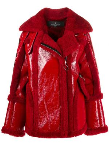 Красная свободная нейлоновая куртка на молнии Nicole Benisti