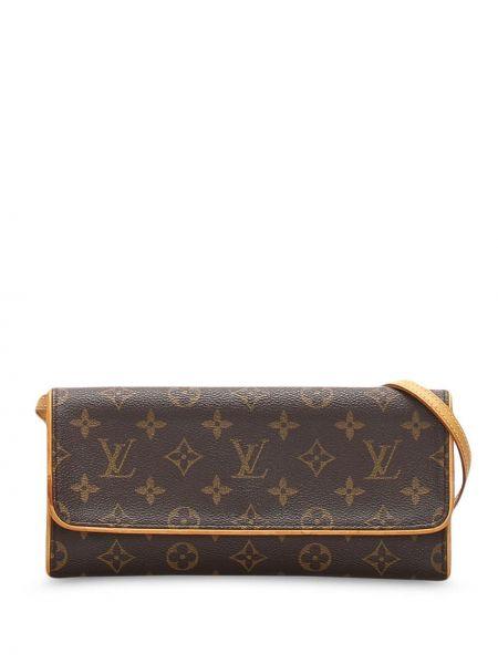 Кожаная сумка на плечо из канваса Louis Vuitton