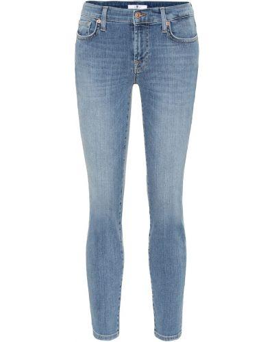 Укороченные джинсы скинни mom 7 For All Mankind