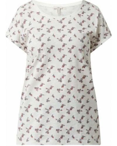 Biały t-shirt bawełniany krótki rękaw Edc By Esprit