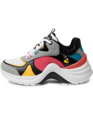 Спортивные белые кроссовки из искусственной кожи на шнуровке Skechers