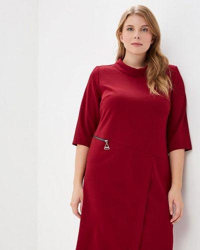 Деловое платье бордовый индийский Indiano Natural