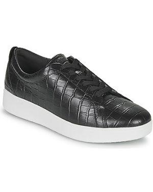 Czarne sneakersy z printem Fitflop