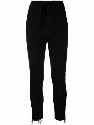 Шерстяные брюки - черные Laneus