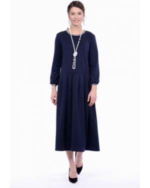Деловое платье со складками из вискозы Lautus