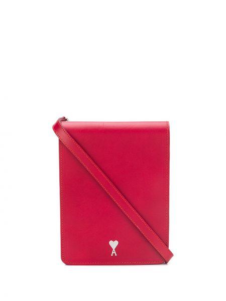 Кожаная сумка - красная Ami Paris