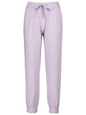 Fioletowe klasyczne spodnie Live The Process