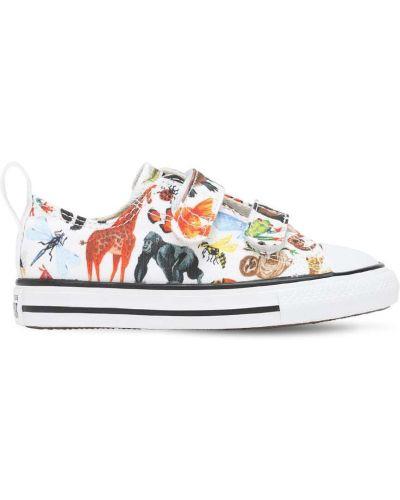 Bawełna bawełna biały sneakersy na platformie Converse