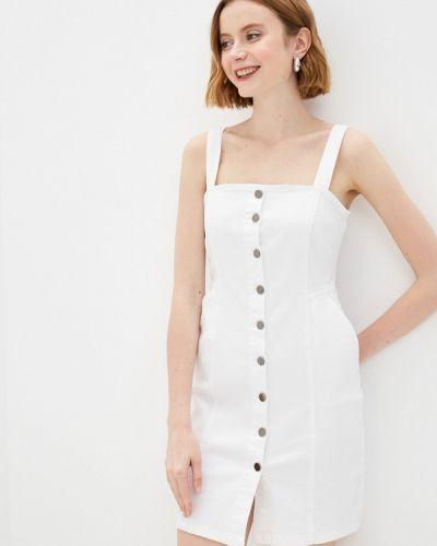 Белое джинсовое платье Adl