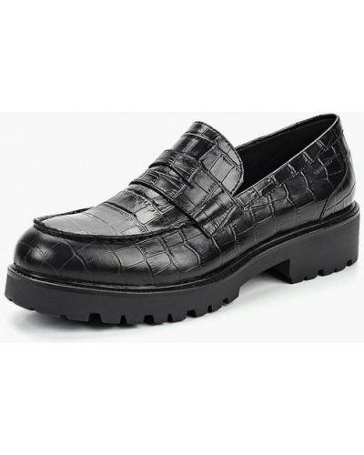 Черные лоферы на каблуке Vagabond