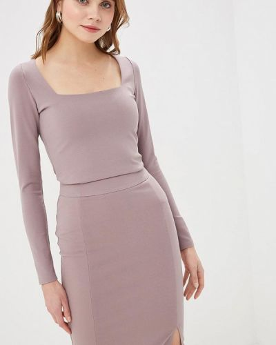 Блузка с длинным рукавом серая Imocean