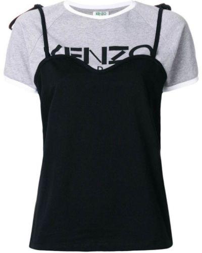 Серая футболка прямая Kenzo