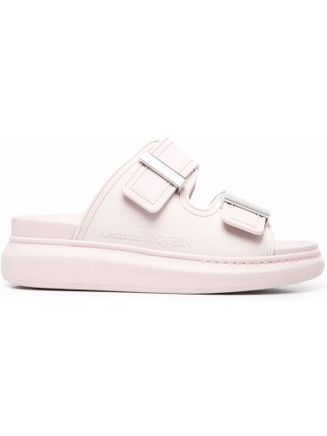 Różowe sandały peep toe Alexander Mcqueen