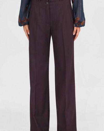 Классические брюки бордовый красный Panove
