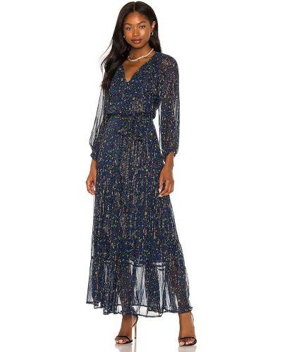 Шифоновое платье макси - синее Karina Grimaldi