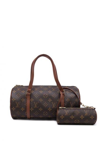 Коричневая сумка из канваса Louis Vuitton