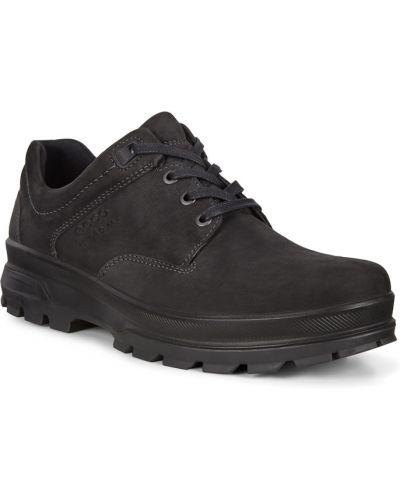 Черные полуботинки на шнурках из нубука Ecco