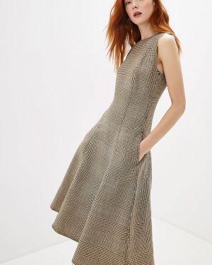 Повседневное платье осеннее бежевое Polo Ralph Lauren