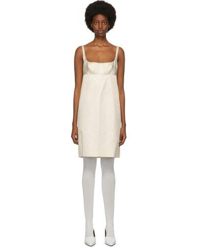 Платье в горошек - белое Marc Jacobs