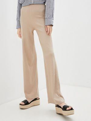 Бежевые брюки повседневные Teratai