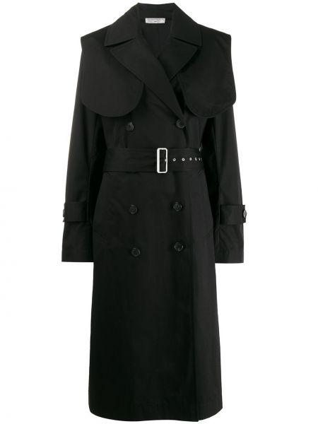 Długi płaszcz z kieszeniami niebieski Victoria Beckham