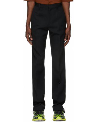 Czarne spodnie wełniane Botter