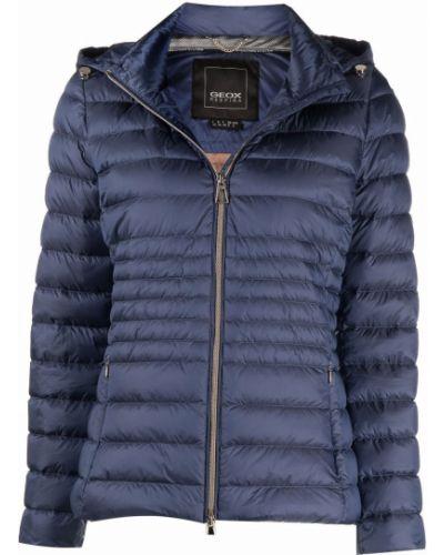 Синяя куртка с воротником Geox