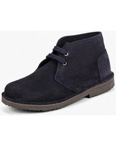 Синие ботинки замшевые United Colors Of Benetton