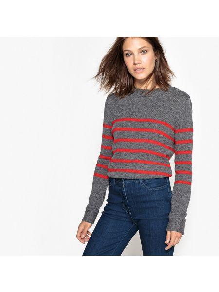 Пуловер в полоску длинный La Redoute Collections