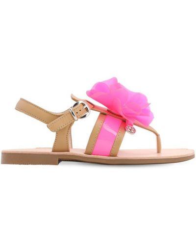Skórzany sandały żółty Florens