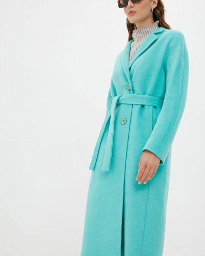 Бирюзовое демисезонное пальто Shartrez