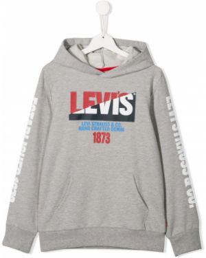Толстовка с капюшоном серая Levi`s Kids