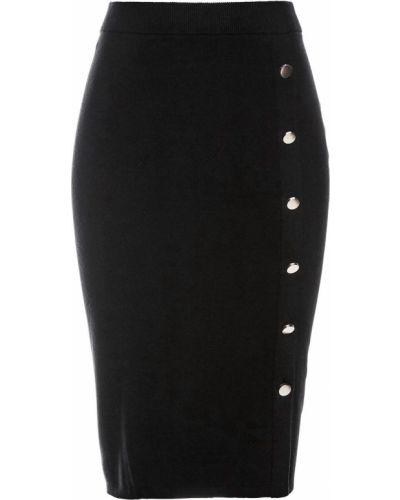 Вязаная юбка черная Bonprix