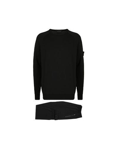Костюмный черный спортивный костюм Stone Island